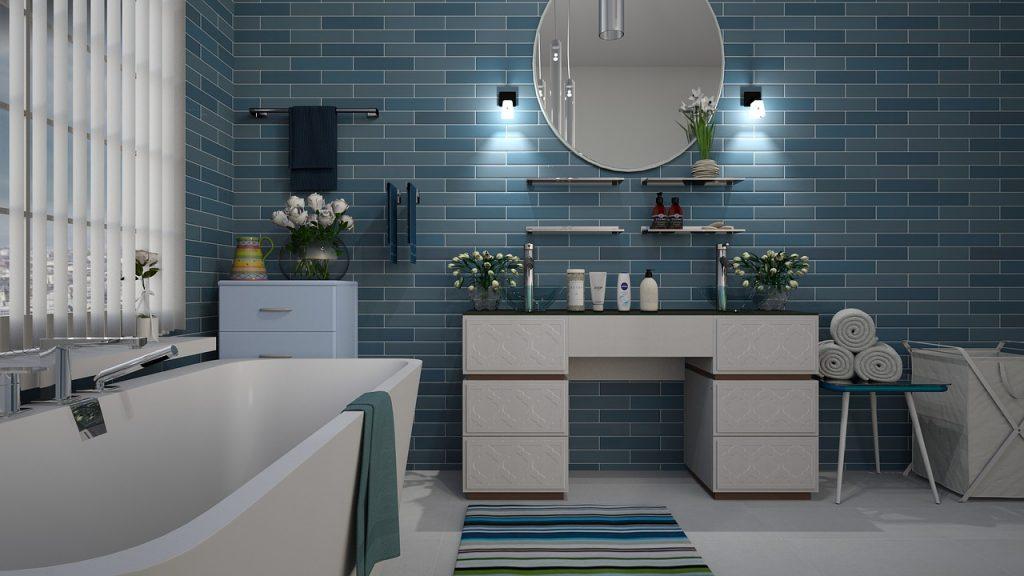 Carrelage mur salle de bain design